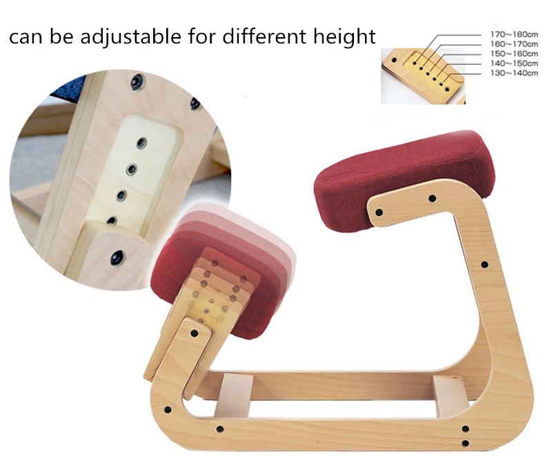 Ergonomicamente Projetado Ajoelhado Cadeira De Madeira