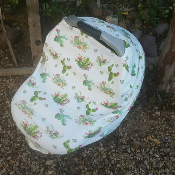 Fantastic Cactus Succulent Stretchy Car Seat Canopy And Nursing Cover Gmtry Best Dining Table And Chair Ideas Images Gmtryco