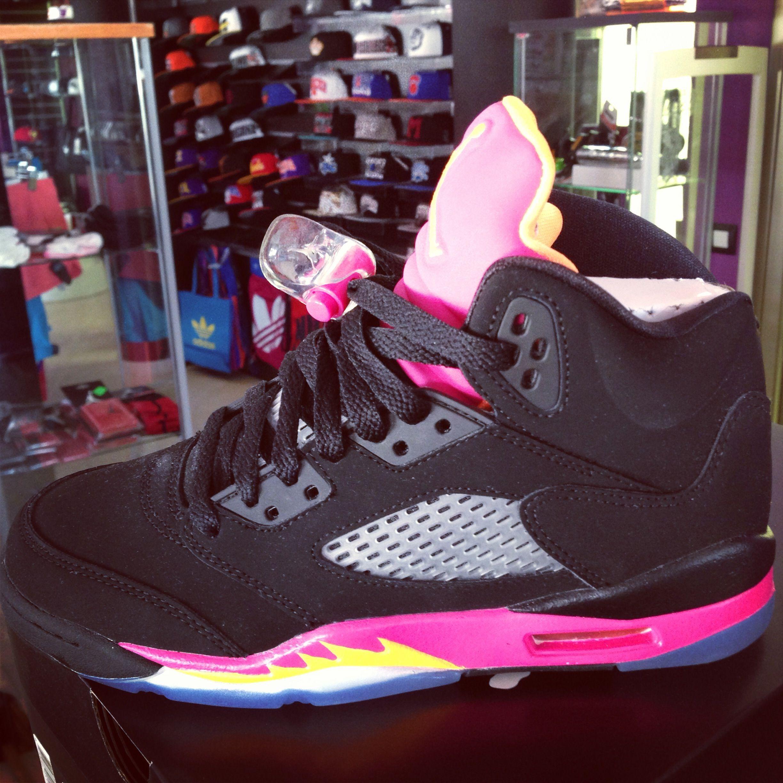 Jordán 5 Black Pink GS Jordan 5, Zapatillas, Jordan