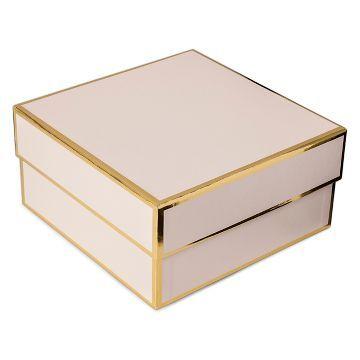 Sugar Paper Blush Square Gift Box Small Craft Jar Pink Gift