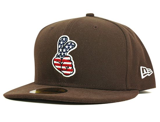1815fa164de4a ONSPOTZ x NEW ERA「Peace Sign USA Flag」59Fifty Fitted Baseball Cap ...