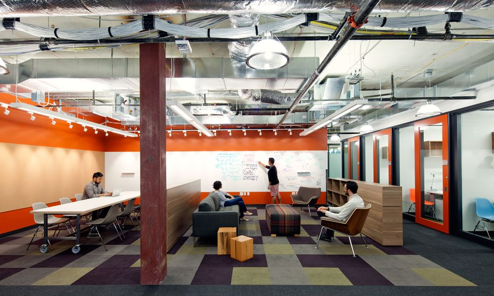 Microsoft O+A with Herman Miller swoop chairs Shared Space - innovatives interieur design microsoft