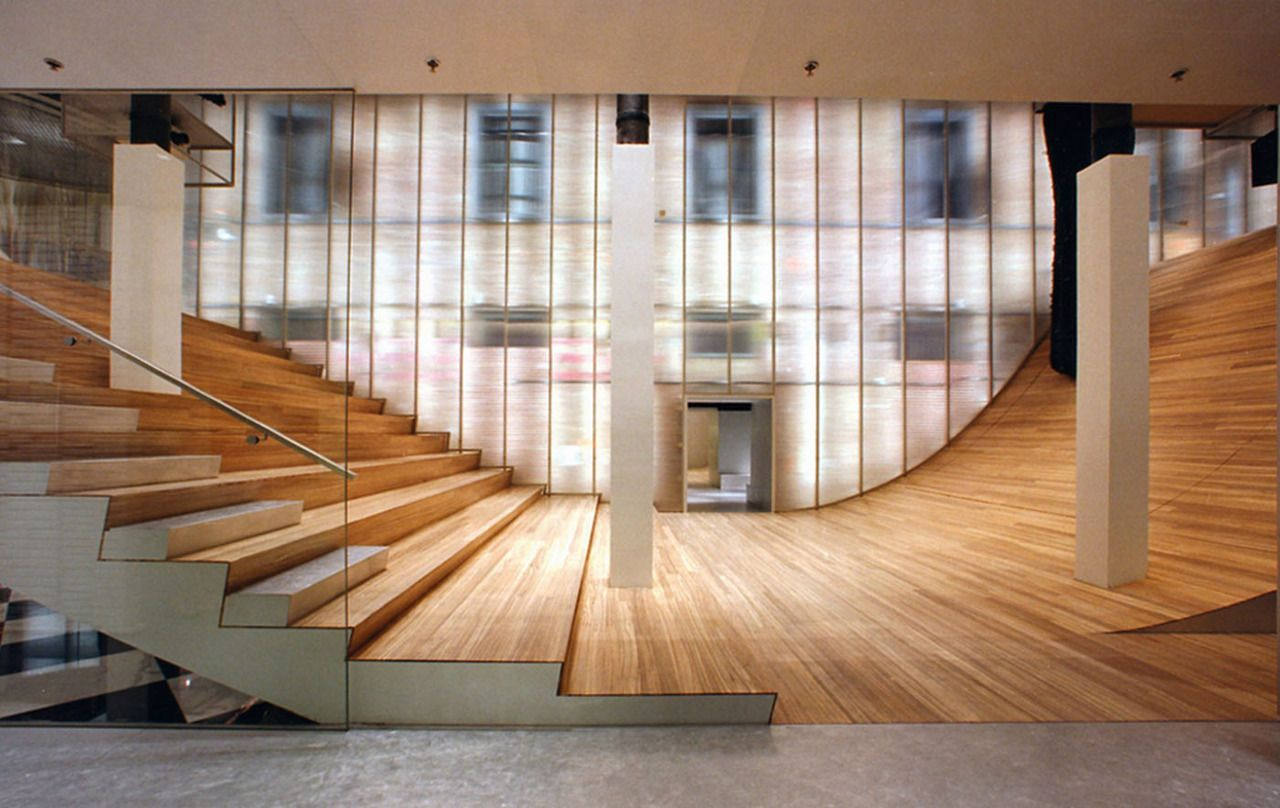 exhibition stair 2001 prada epicenter rem koolhaas oma