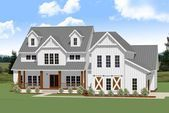 Ideal 4-Bedroom Farmhouse Plan with Vaulted Ceiling and Main-Level Master #vaultedceilingdecor