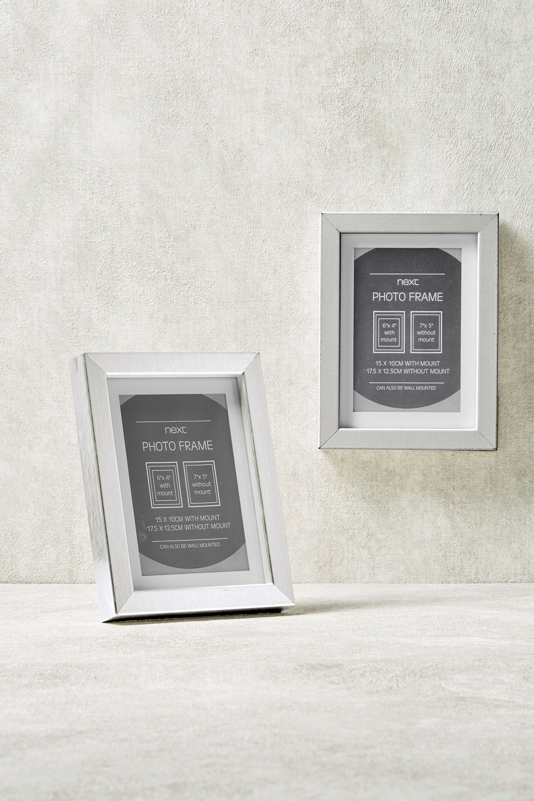 Next 2 Pack Gallery 6 X 4 15 X 10cm Frames Silver Products