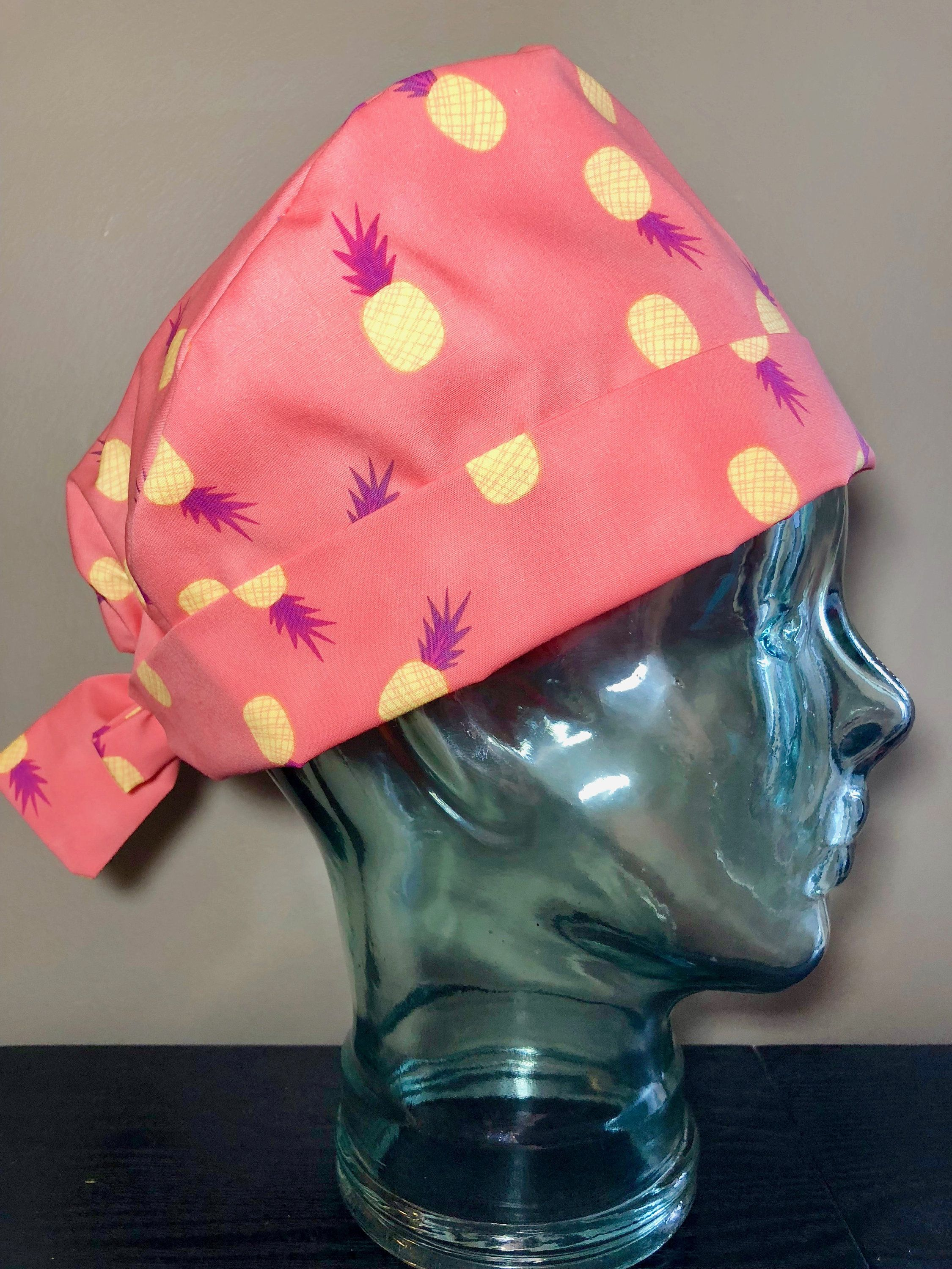 51a3d5cdbc70d Pineapple Party in Sorbet Surgical Scrub Hat