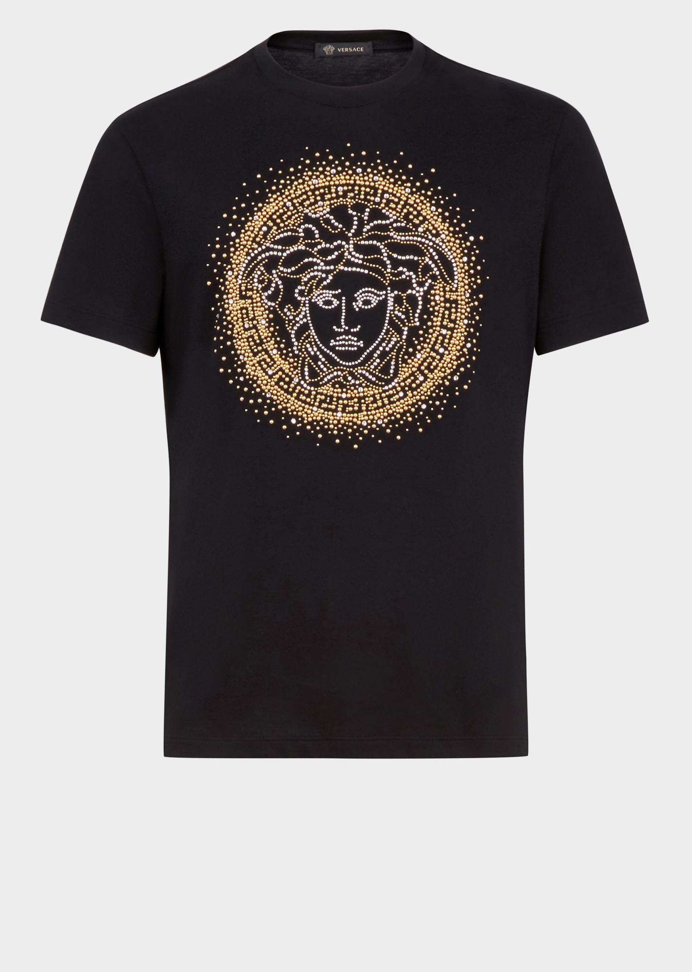 d6efdafb3f8a VERSACE Embellished Medusa Logo T-Shirt. #versace #cloth | Versace ...