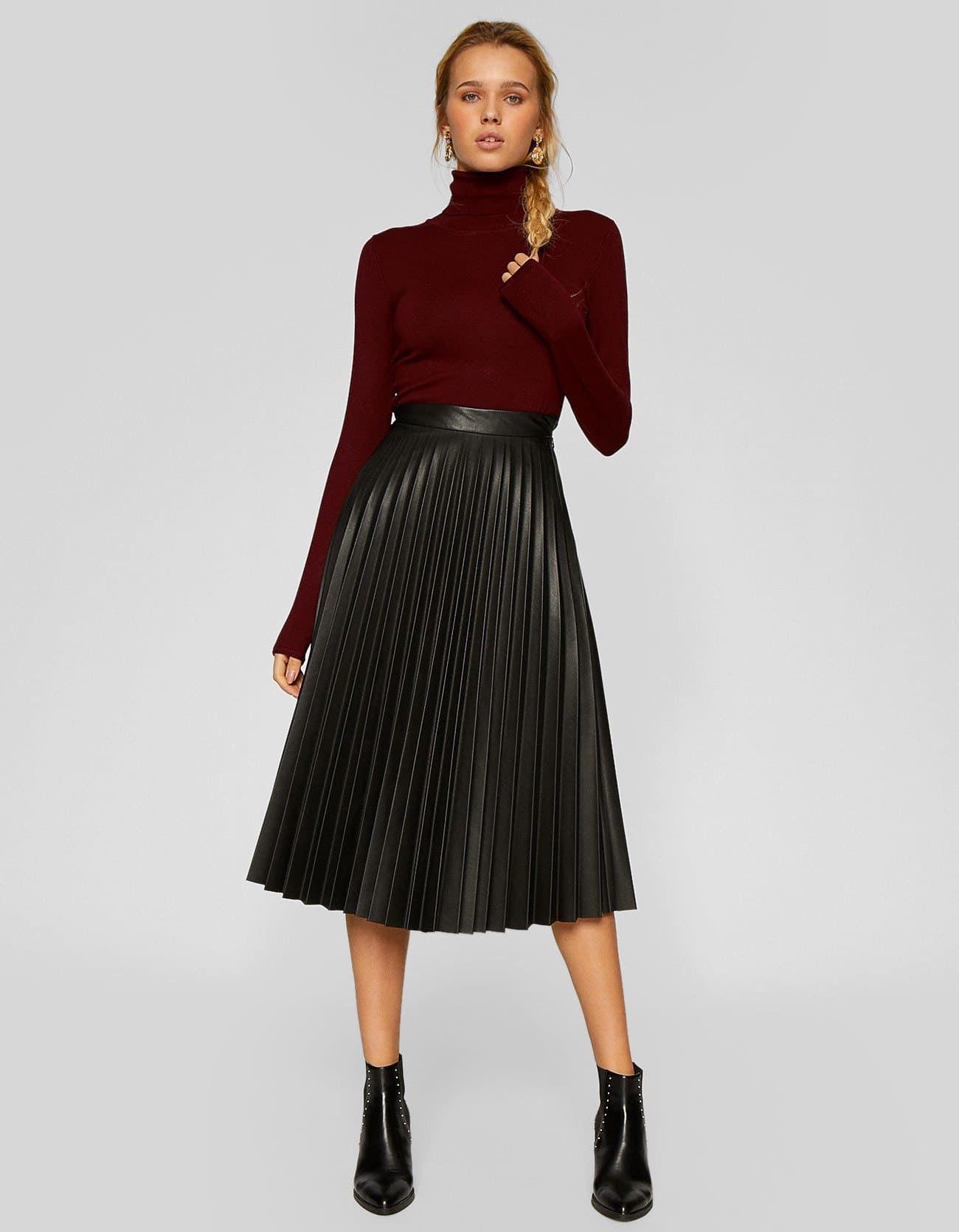676aa13fc Falda plisada STR   wear. en 2019   Faldas plisadas, Falda plisada ...