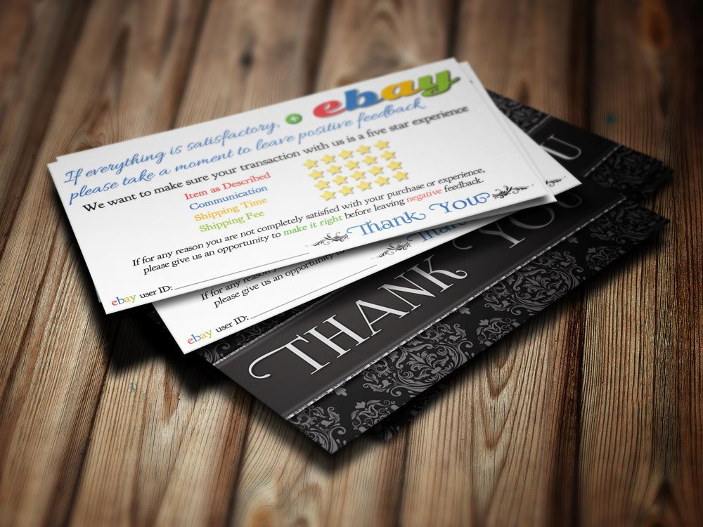 Thank you business cards ebay seller 5 five star rating 100 elegant thank you business cards ebay seller 5 five star rating 100 elegant cards reheart Image collections