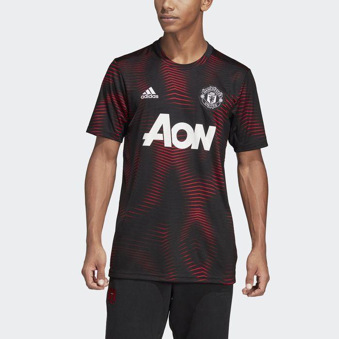 Manchester United Home Pre Match Jersey Sports Jersey Design Black Adidas Adidas Men