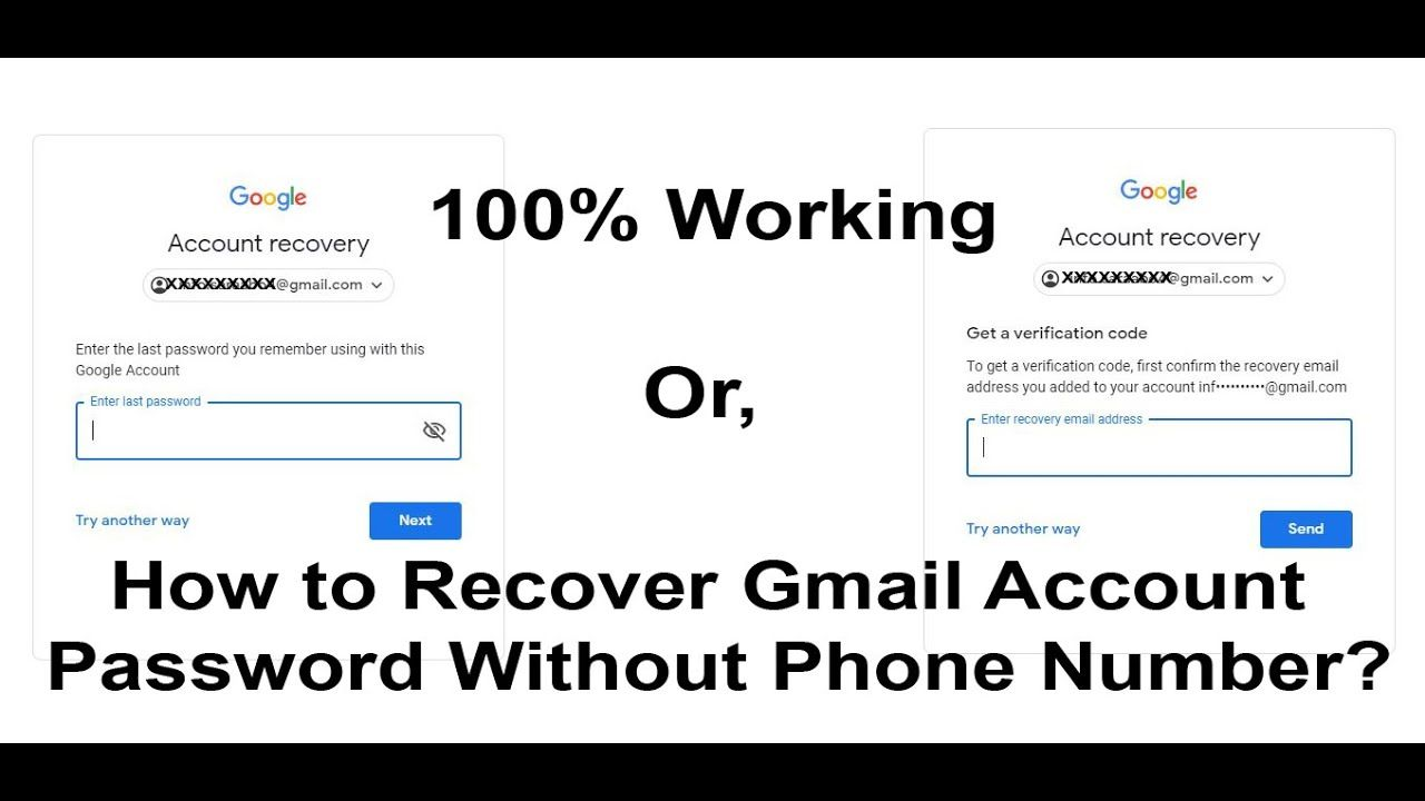 How To Recover Gmail Account Password Without Phone Number Google Acco Account Recovery Phone Numbers Gmail