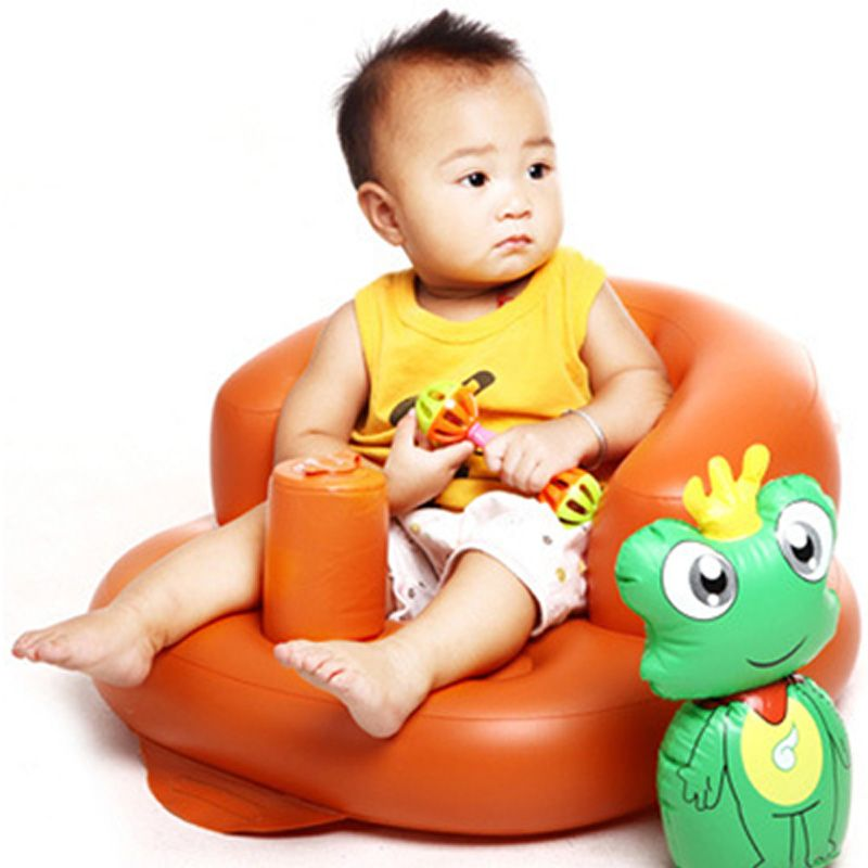 Built-in Pump Portable Baby Chair Inflatable Sofa Cute PVC Cartoon ...