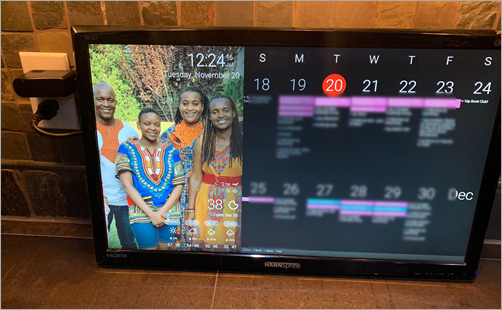 How to build a Wall Mounted Family Calendar and Dashboard