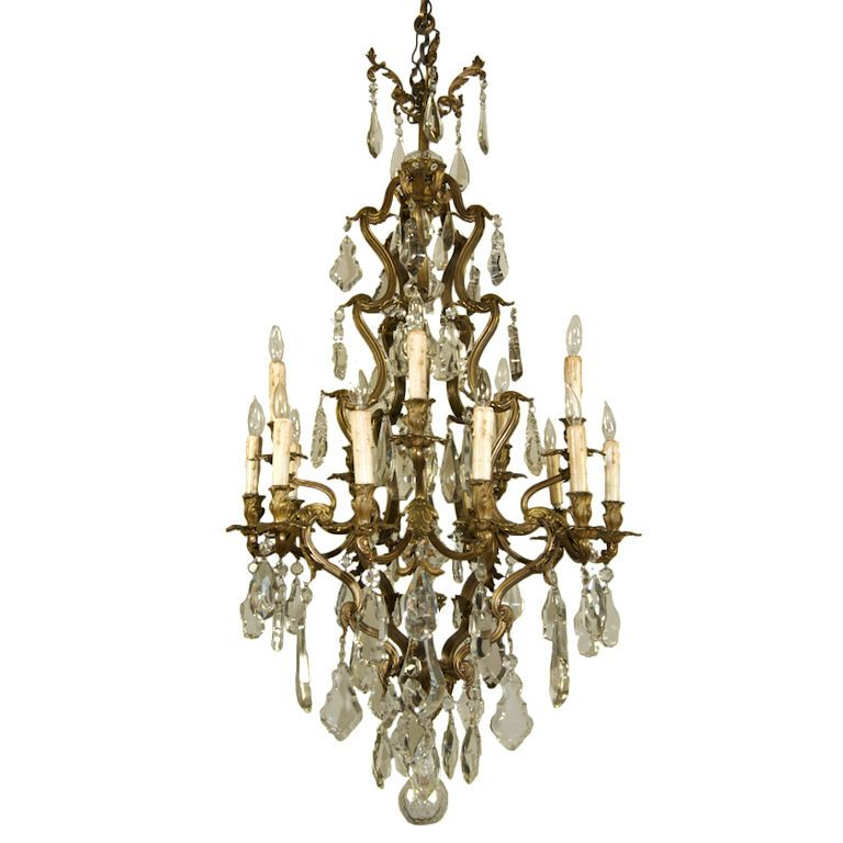 15 light rococo crystal chandelier rococo chandeliers and pendant 15 light rococo crystal chandelier from a unique collection of antique and modern chandeliers and mozeypictures Gallery