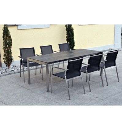 Gartentische - Tisch Ventura fix in Keramik Dark night - Möbel Ryter