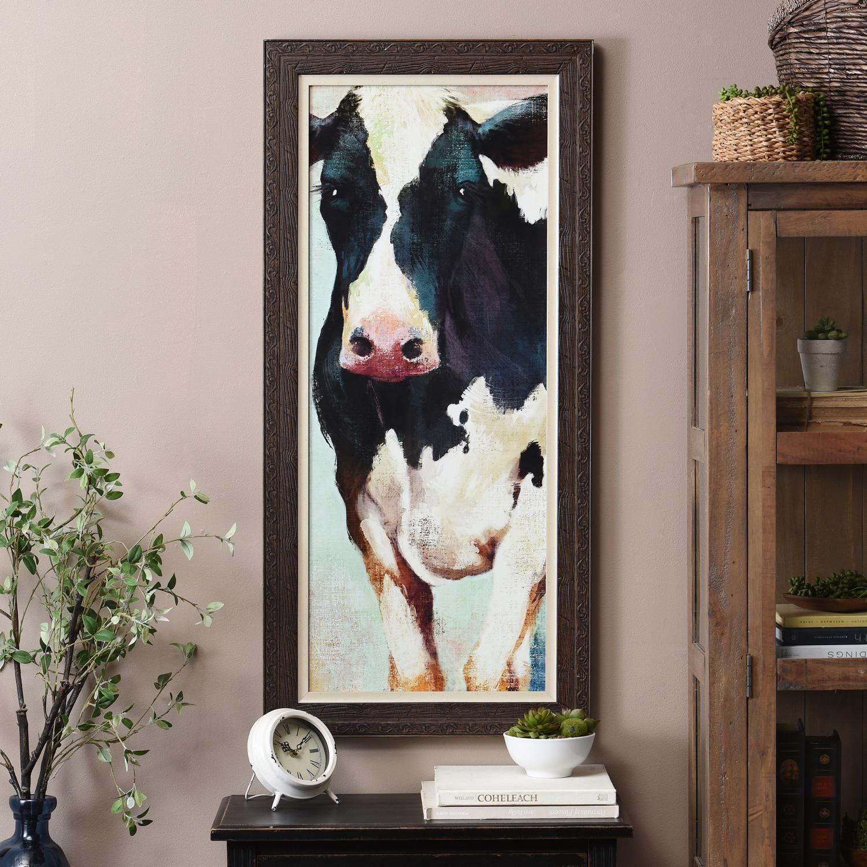 Countryside Cow Framed Art Print   Cow wall art, Cow decor ...