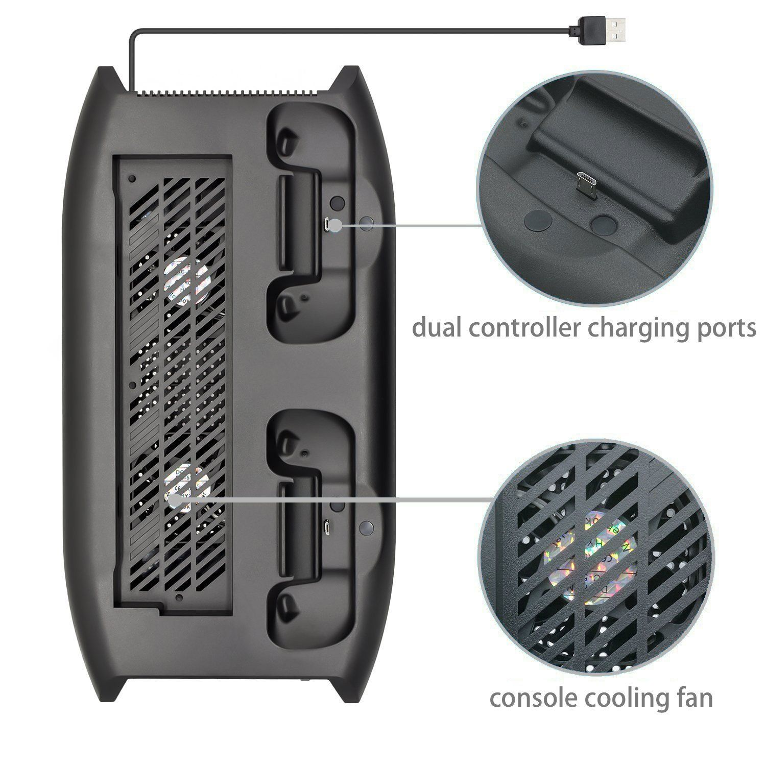 Zadii Vertical Stand Cooling Fan Compatible With Xbox One X With
