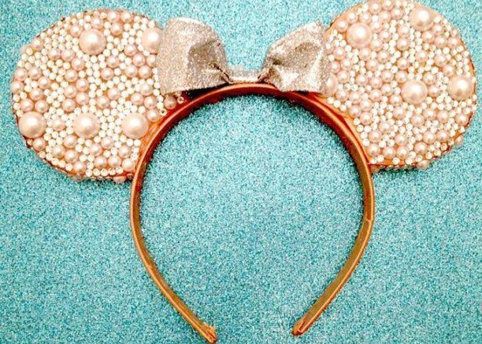 簡単diy ミニーちゃんの耳カチューシャを花嫁仕様にアレンジしたら