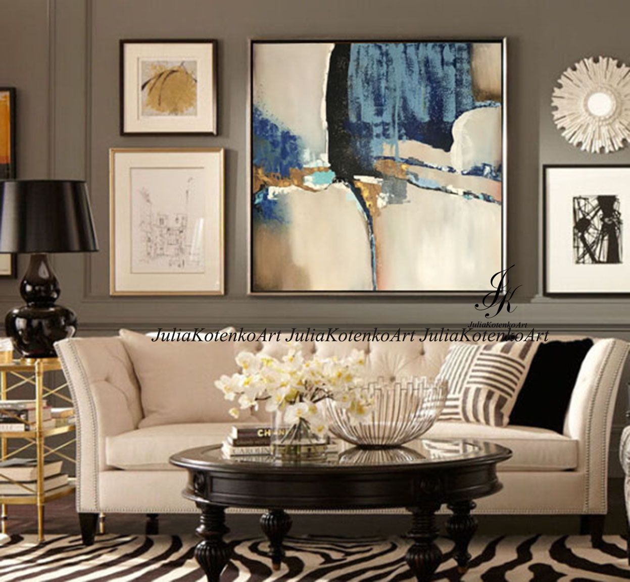 Abstract Acrylic Painting Textured Painting On Canvas By Julia Kotenko Wall Decor Living Room Wall Art Living Room Living Room Art
