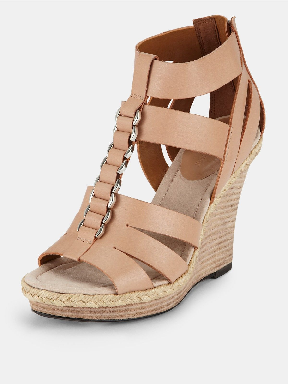 Clarks Silky Smooth Wedge Sandals