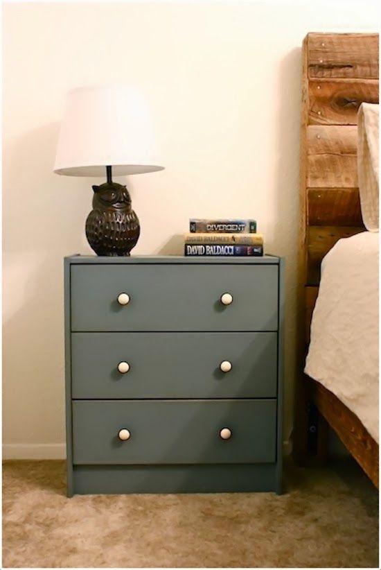 Pintar o forrar los muebles para transformarlos por - Comodas dormitorio ikea ...
