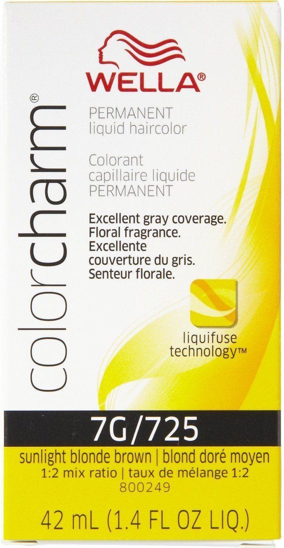 Wella Color Charm Liquid Haircolor 725 7g Sunlight Blonde Brown 1 4