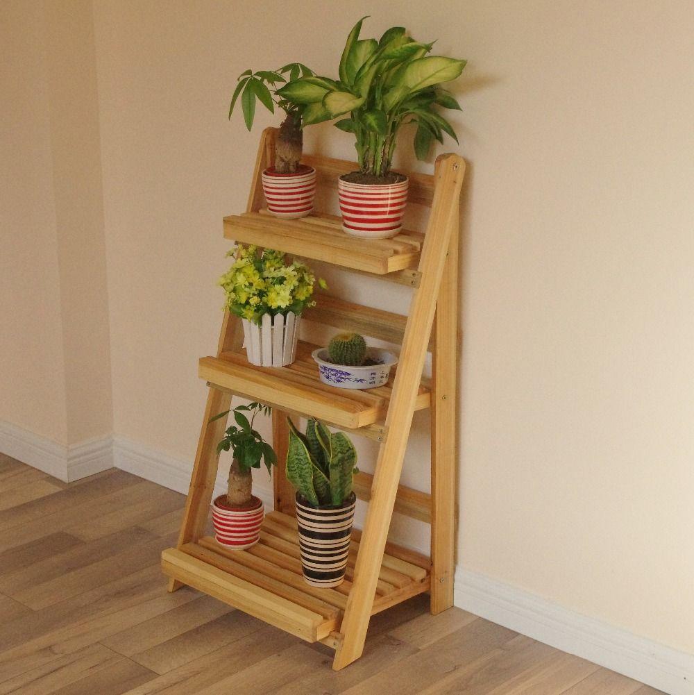Aliexpress Com Buy Wood Flower Pot Stand Furniture Plant Stand Vintage Wooden Shelf Planter Home Storage Kitchen O Wood Plant Stand Plant Stand Framed Plants