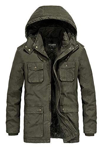 New JYG Men's Winter Thicken Coat Casual Military Parka Jacket Removable Hood online is part of Clothes Mens Winter - Buy JYG Men's Winter Thicken Coat Casual Military Parka Jacket  Removable Hood Online at Top Online Shopping Store  Check JYG Men's Winter Thicken Coat Casual Military Parka Jacket  Removable Hood Prices, Ratings & Reviews