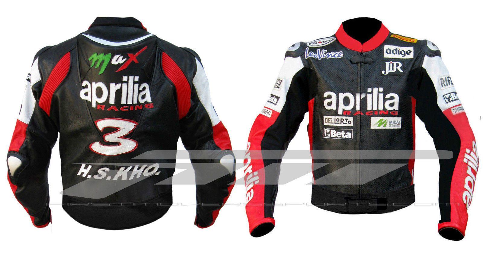 Motor Bike Racing Aprilia Leather Jacket A Brand New Unused