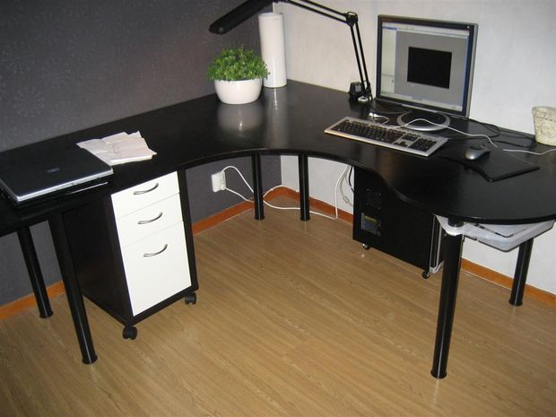 Swedish Ikea Computer Desk Corner Computer Desk Computer Desk