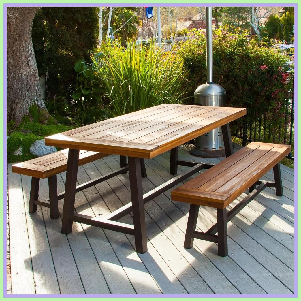 44 Reference Of Patio Table Wood Look In 2020 Outdoor Dining Set Patio Dining Table Patio Table Set