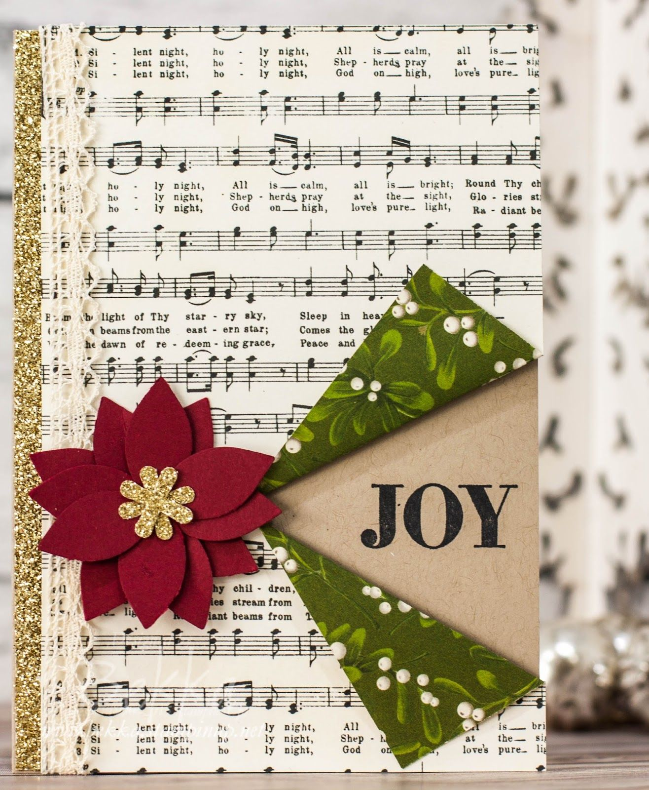 Musical Joy Christmas Card featuring products from Stampin