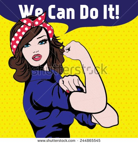 We Can Do It Iconic Womans Fistsymbol Of Female Power And