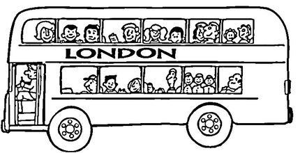 London Bus Coloring Page London City Tour London Bus London Theme