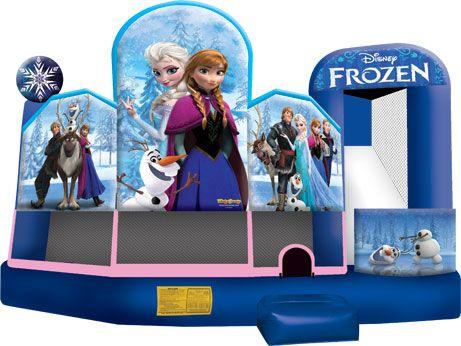 Disney Frozen 5 in 1 Deluxe Combo Bounce House rental in Chicago