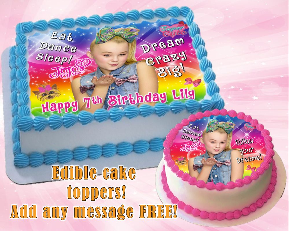 Outstanding Details About Jojo Siwa Edible Birthday Cake Topper Personalized Funny Birthday Cards Online Sheoxdamsfinfo