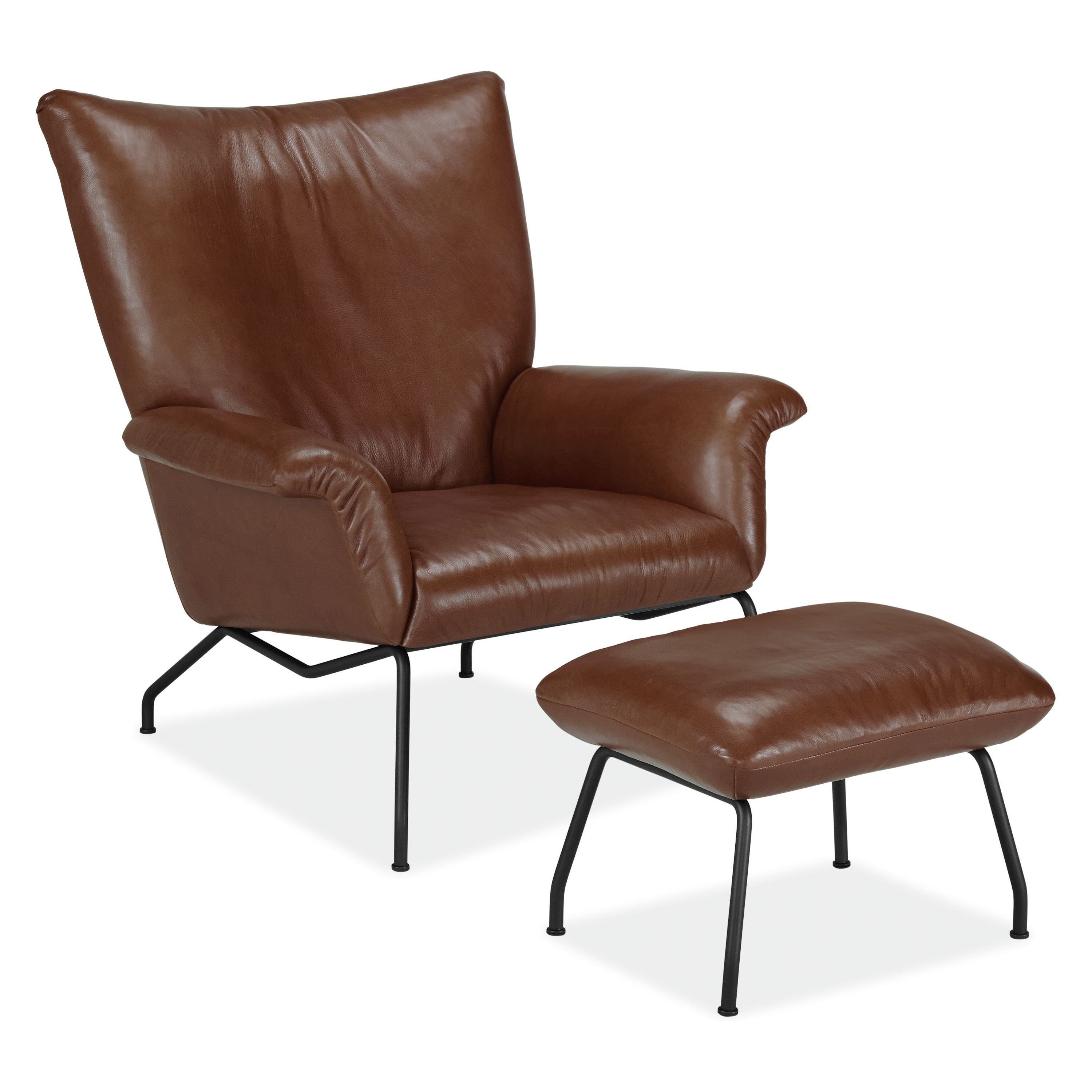 Room Board Paris Leather Ottoman Chair And Ottoman Leather Chair With Ottoman Modern Furniture Living Room