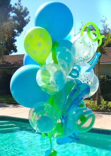 pool party balloons Festa Pinterest Globo, Fiestas y - imagenes de decoracion con globos