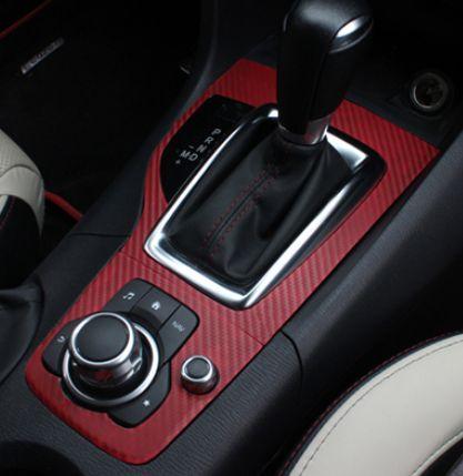 Mazda 3 axela auto transmission gear box carbon feel pvc - 2004 mazda 3 interior accessories ...