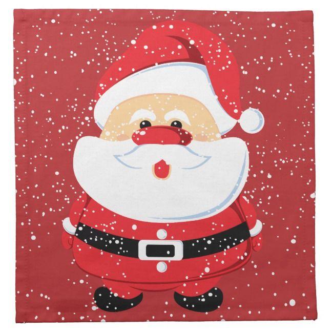 Cute Santa Claus Christmas custom Napkin |  Cute Santa Claus Christmas custom Napkin