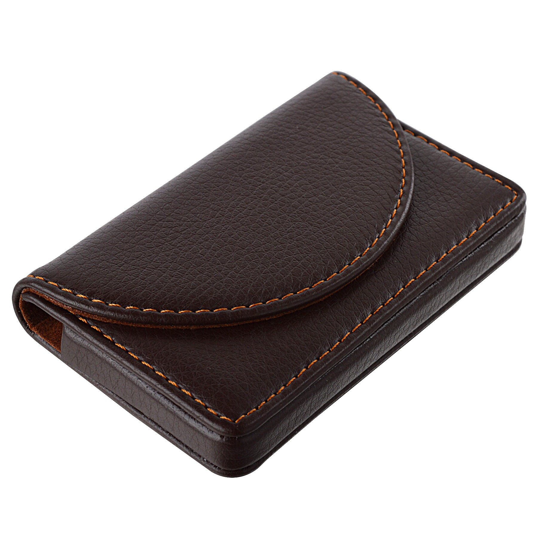 MaxGear Leather Business Card Holder Business Cards Case with ...