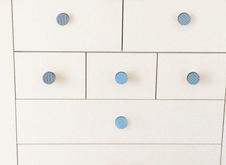 Dresser Drawer Knobs-Blue and Grey