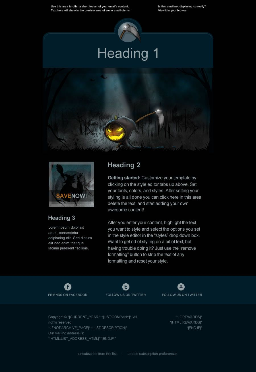 Premium Holiday email template for
