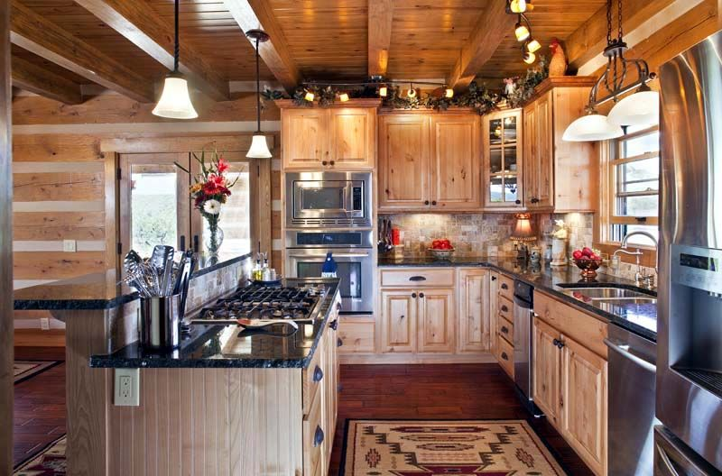 Track Lighting Country Kitchen