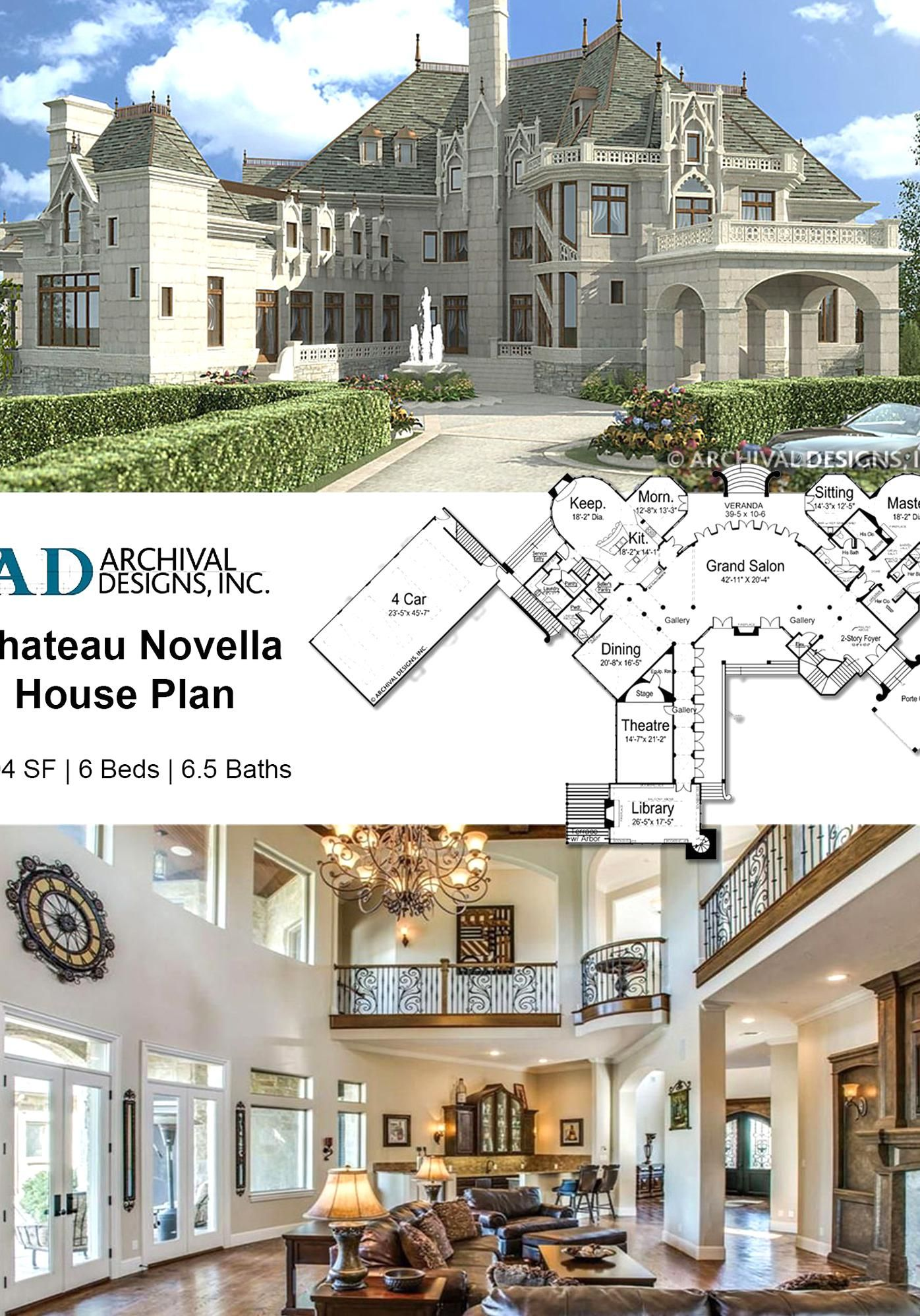 Thismanding Castle Home Plan Was Designed With French Nobility In Mind The Luxury House Style Allows In 2020 Castle House Plans House Plans Mansion Castle House Modern