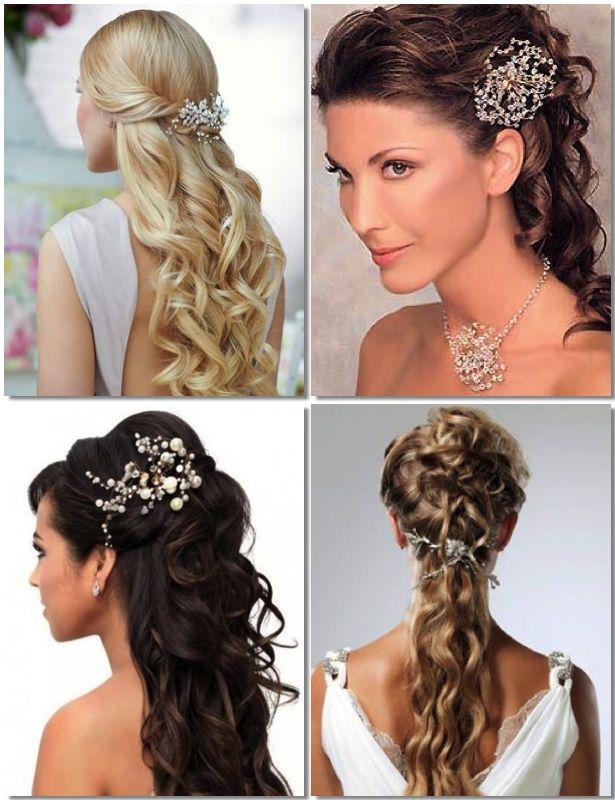 Semi Recogidos Con Joyas Para Novias Hair Tips Trends En