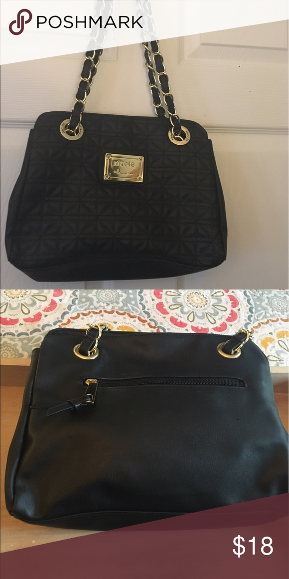 5db38e44ef8a Nicole Miller little black bag Darling Nicole Miller cross body with chain  strap. Nicole by Nicole Miller Bags Crossbody Bags