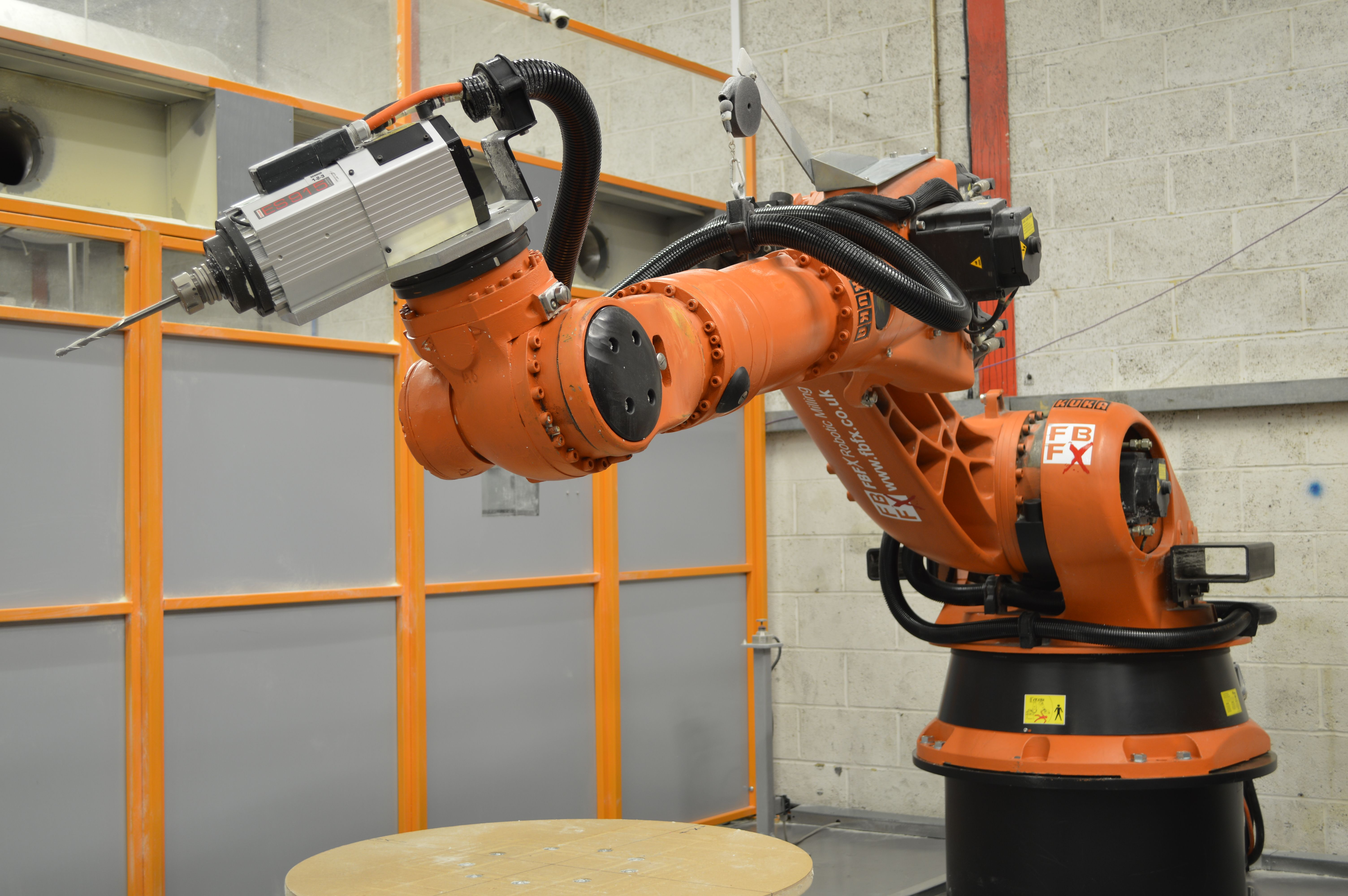 ◇ Visit ~ MACHINE Shop Café ◇ FBFX's KUKA Robotic Milling Cell