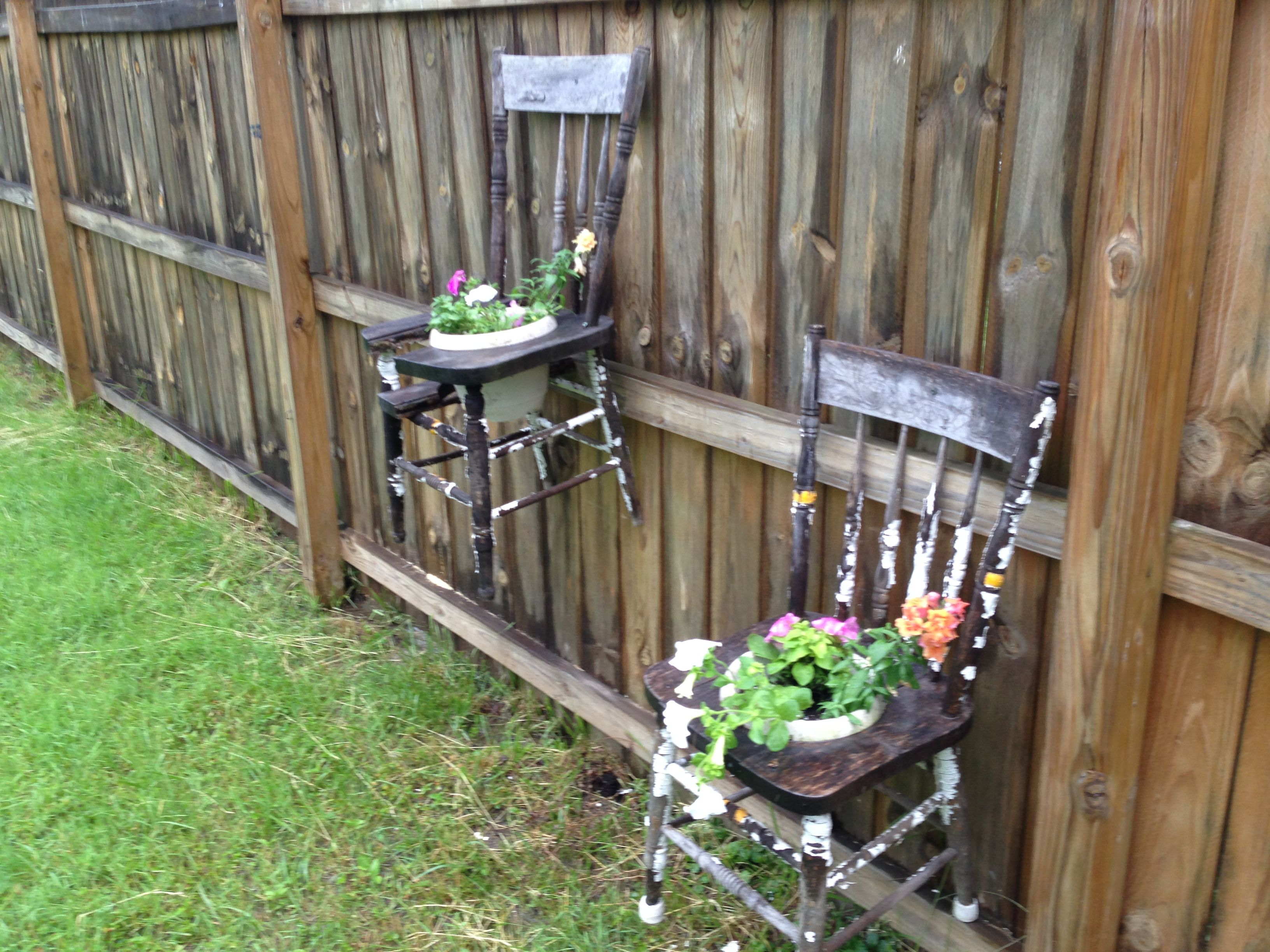 Old chairs upcycled | Our house and yard. | Pinterest | Crafty
