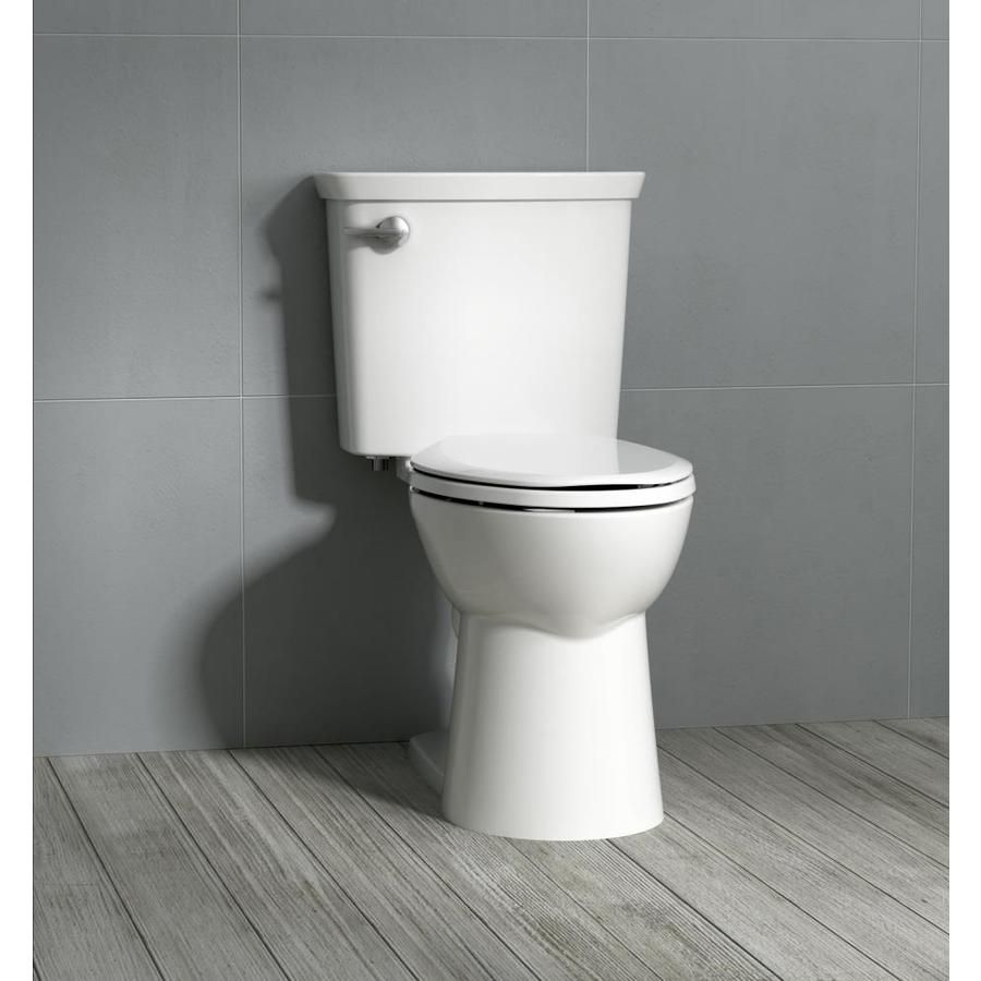 American Standard Homestead Vormax White Watersense Elongated Chair Height 2 Piece Toilet 12 In Rough In Size